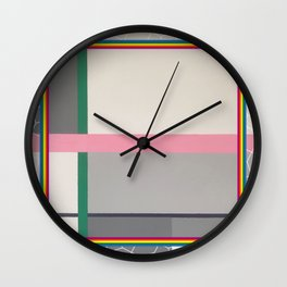 Green line - color square Wall Clock