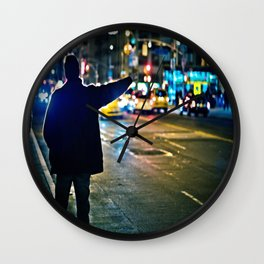 Can you see me / NYC / Taxi Wall Clock