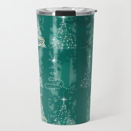 Christmas tree in the forest Travel Mug