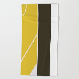 The dark side of yellow Beach Towel