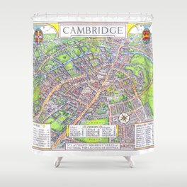 CAMBRIDGE University map ENGLAND Shower Curtain