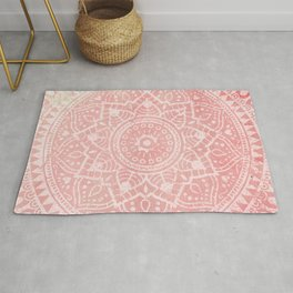 Pink Mandala Rug