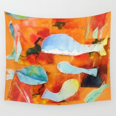 autumn whales Wall Tapestry