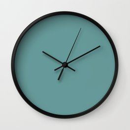 Desaturated Cyan - solid color Wall Clock