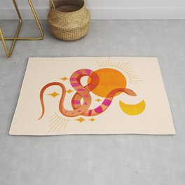 Abstraction_SUN_MOON_SNAKE_Minimalism_001 Rug
