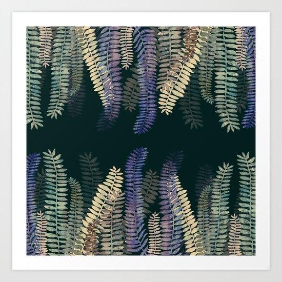 nature black Art Print