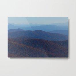 The Blue Ridge Parkway Mountains NC #2, Fine Art Landscape Photography Metal Print