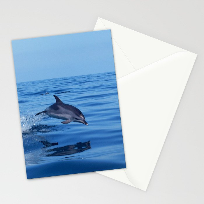 Spotted dolphin jumping in the Atlantic ocean Stationery Cards