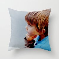 mike wrobel Throw Pillows featuring Mike! by JulleK
