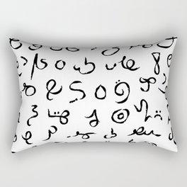 Sorabe alphabet Rectangular Pillow