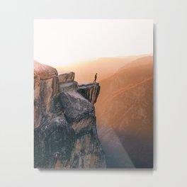 On the cliff, Yosemite Metal Print