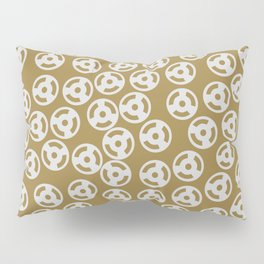 Discs Silver on Gold Pillow Sham