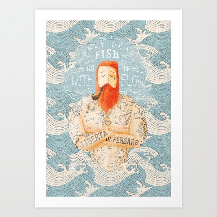 Sailor Art Print by seasidespirit