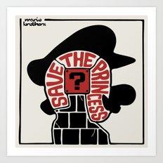 Save The Princess Art Print
