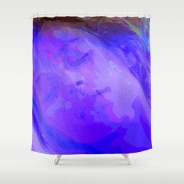 is an teanga a muscle cumhachtach Shower Curtain