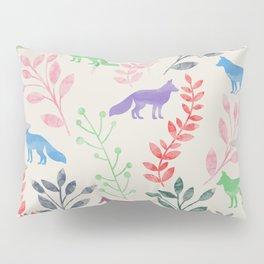 Watercolor Floral & Fox III Pillow Sham