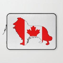 Canada Border Collie Laptop Sleeve