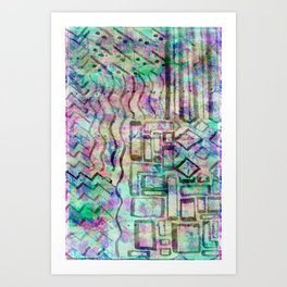 Abstract - Colour pattern Art Print