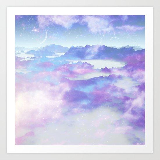 Dreaming landscape Art Print