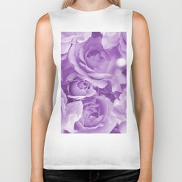 Violet Rose Bouquet For You - Valentine's Day #decor #society6 #homedecor Biker Tank