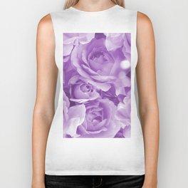 Violet Rose Bouquet For You - Valentine's Day #decor #society6 #homedecor Biker Tank