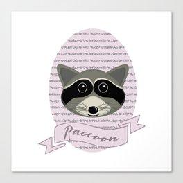 Mevrouw Raccoon Canvas Print
