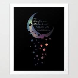 Stars I can't fathom into constellations Art Print