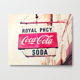 Royal Pharmacy Vintage Sign - New Orleans Metal Print