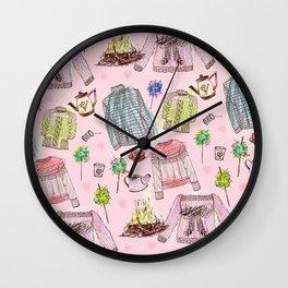 Autumn Winter Warmers Wall Clock