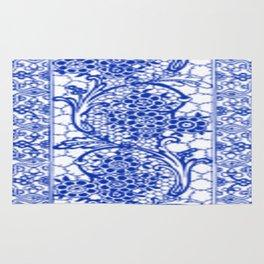 Sapphire Blue Lace Rug