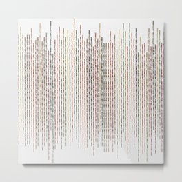 Autumnal Thin Lines Metal Print