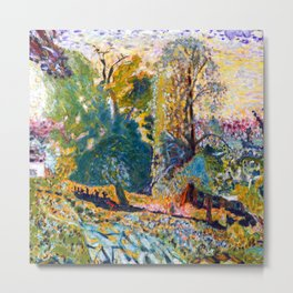 Pierre Bonnard Landscape in Normandy Metal Print