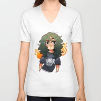 tumblr V-neck T-shirts featuring TUMBLR ADDICTION by lilbutt