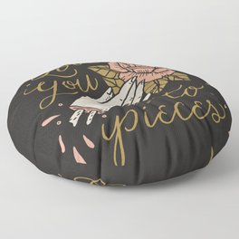 Love You to Pieces Floor Pillow