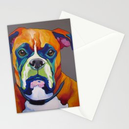 Hank the Boxer Stationery Cards