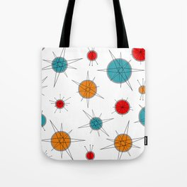 Atomic Age Colorful Planets Tote Bag