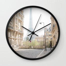 Eiffel Tower Hidden Street Wall Clock