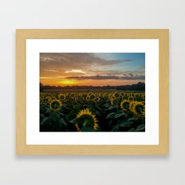 Sunrise Over Kansas Framed Art Print