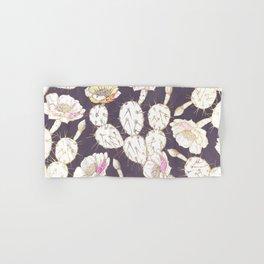 Modern white gold mauve lavender catus floral Hand & Bath Towel