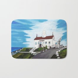 Battery point Lighthouse ( Crescent City, CA ) Bath Mat