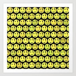 smiley face symbol Art Print
