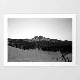 Broken Top at sunrise Art Print