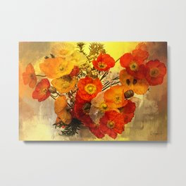 Poppy Expressions Metal Print