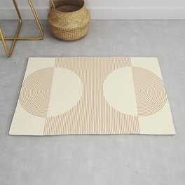 Geometric lines in Shades of Coffee and Latte Rug