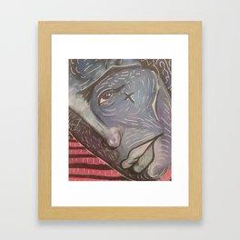 Blue Face Keep Going Framed Art Print
