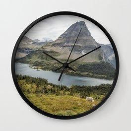 Overlooking Hidden Lake and BearHat Mountain Wall Clock