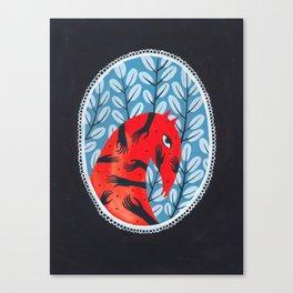 Smug red horse 2. Canvas Print