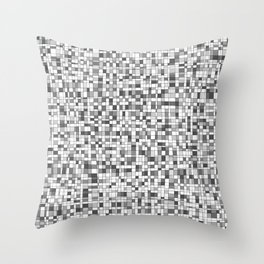 Gray Scale Grid - There's Nothing Left Throw Pillow