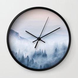 Pastel landscape 03 Wall Clock