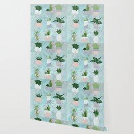 paper plants in vases 2 Wallpaper